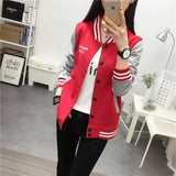 New Baseball Jacket Women College Jacket Fashion Hoodies Woman Coat Fashion New Hoodies Sweatshirt-Justt Click