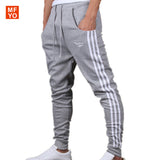 Striped Mid Waist Cotton Loose Mens Pants-Justt Click