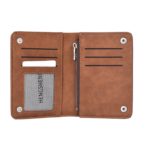 New arrival Designer Brand Men Wallet Short Nubuck Leather Wallet Slim Pocket Wallet Pusre Portable Card Holder Casual Purse-Justt Click