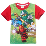 Ninja Boys T-Shirt For Girls T Shirt 2019 Summer Children Tops Cartoon Tshirt Kids Clothes Ninjago Top Tees 4-10Y