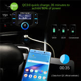 FM Transmitter Bluetooth FM Modulator 2 Port Quick Charger Handsfree Car Kit MP3 Player-Justt Click