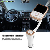 Onever wireless bluetooth car kit FM Transmitter with USB Charger mp3 player support USB-Justt Click