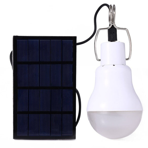 New Lighting Portable Camping S-1200 15W 130LM LED Lamp Bulb Light Charged Solar Energy-Justt Click