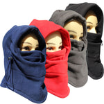 Outdoor Winter Fleece Hat Extra Thick Double Winter Riding Anti-wind Ski Masks CS Face Hats Hiking Scarves Windproof Neck Warm-Justt Click