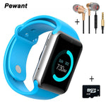Pewant Bluetooth 4.0 Smart Watch Android Clock Connected Smartwach Sport Pedometer With Camera Support SIM Card Smartwatch-Justt Click