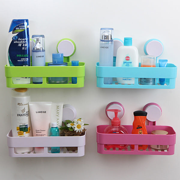 Exellent Bathroom Accessories With Suction Cups Shelf Abs Strong
