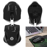 2.4GHz 6 Buttons Wireless USB Receiver Optical Mouse for Laptop-Justt Click