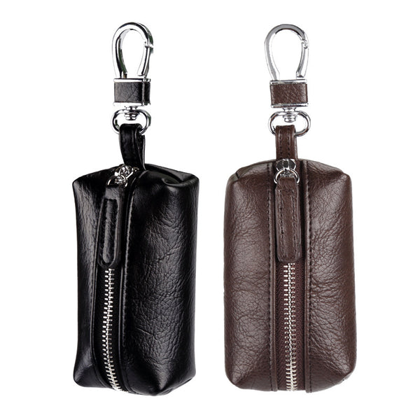 Fashion Luxury Unisex Door Car Key Wallets PU Leather Keychain Holder Bag Man Housekeeper Key Holders Women Coin Purse-Justt Click