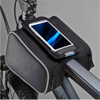 New Bicycle Front Pannier Double Bag Pouch for 5.5in / 4.8in Cellphone - Justt Click