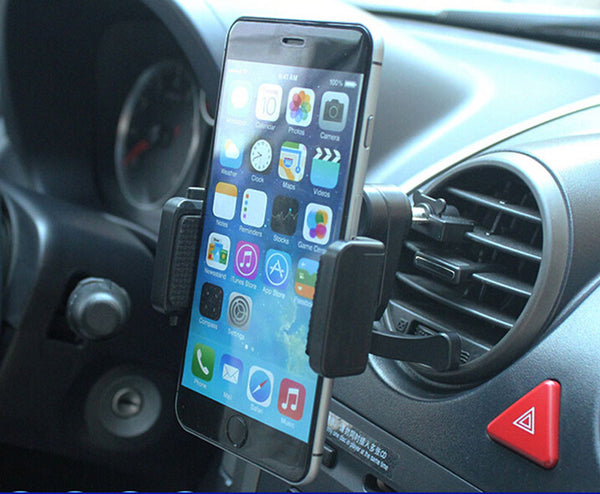 360 Degree Car Air Outlet Vent Universal Clip Mount Bracket Cradle Holder For Smart Phones-Justt Click