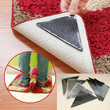 4 × Rug Carpet Mat Grippers Non Slip Anti Skid Reusable Washable Silicone Grip - Justt Click