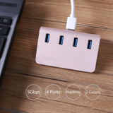 USB 3.0 Hub,4 Ports USB 3.0 Desktop Extension USB Splitter For Laptop PC Macbook-Justt Click