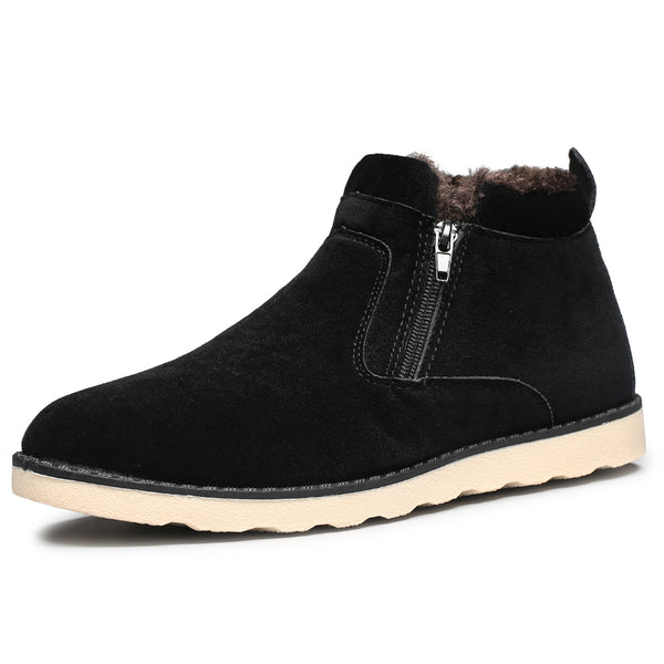 New Arrival Men Casual Zip Snow Boots With Fur Fashion Winter Ankle Boots 3 Colors Men Shoes Male ShoesDG-C20-Justt Click