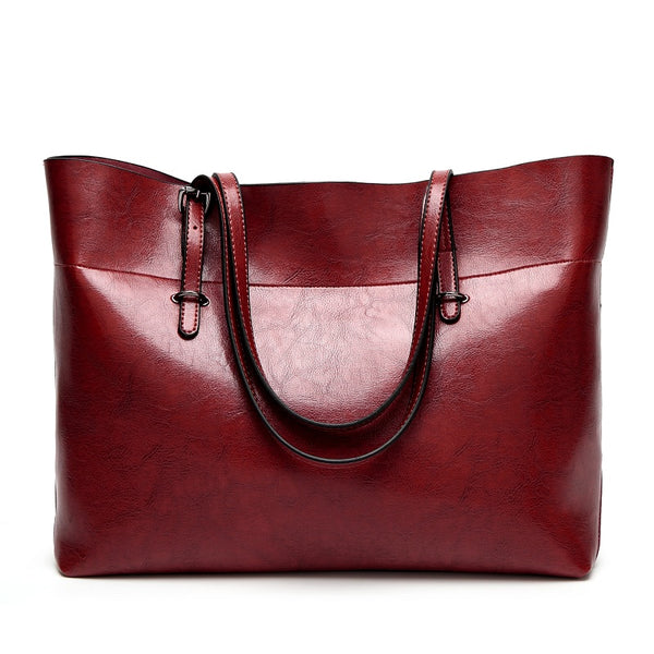 SEVEN SKIN Women Messenger Bags Large Size Female Casual Tote Bag Solid Leather Handbag Shoulder Bag Famous Brand Bolsa Feminina-Justt Click
