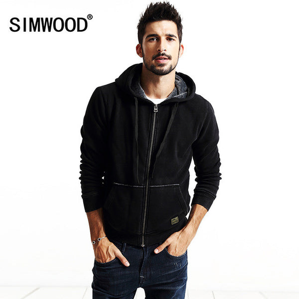 New Fashion New Arrival SIMWOOD Brand Clothing Spring Winter Men's Hoodie-Justt Click