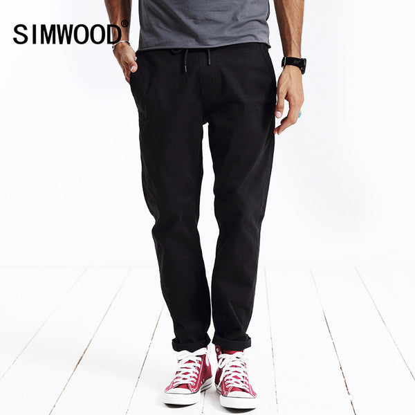Simwood Brand Autumn Winter New Fashion 2017 Men Casual Pants-Justt Click