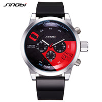 Men Sports Watches Relogio Masculino Waterproof Black Dial Males Chronograph Quartz Wrist New Fast & Furius-Justt Click