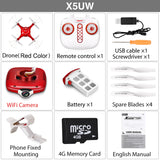 SYMA X5UW Drone with WiFi Camera HD 720P Real-time Transmission FPV Quadcopter 2.4G 4CH RC Helicopter Dron Quadrocopter-Justt Click