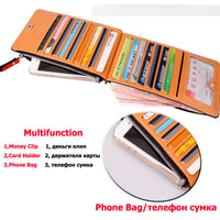 Slim Long Designer Famous Luxury Brand Women Wallet Lady Female Coin Purse-Justt Click