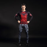 Men's Gym Tights Elastic Quick-drying 3D Printed T-shirts-Justt Click