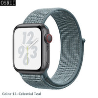 Strap For Apple Watch band 42mm 38mm 5 4 3 correa iwatch 44mm 40mm sport loop bracelet Apple watch 5 4 accessories 5/3/2-Justt Click