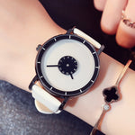 Stylish Turntable Creative Watch Leather Casual Women Watches Quartz Clock Female Lover Sport Wristwatch Relogio Feminino Montre-Justt Click