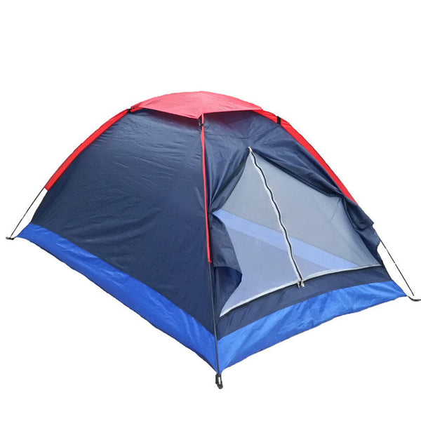 Two Person Outdoor Camping Tent Zelt Kit Fiberglass Pole,Carry Bag,Hiking Traveling,-Justt Click