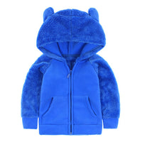 Svelte Brand Fall Winter for Children Boys' Fur Soft Fleece Hoody Hooded Jacket Outerwear Coat Clothing with Cartoon Bear Ears-Justt Click