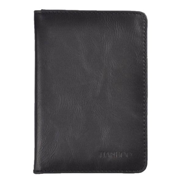 Leather Rfid Wallet Passport Cover Holder Case Bag For Russia/US/EUR/CA RFID Safe Blocking Protector For Credit Card-Justt Click