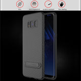 Phone Case For Samsung Galaxy S8 S8 Plus Coque Carbon Fiber Cover For Samsung S7 S7-Justt Click
