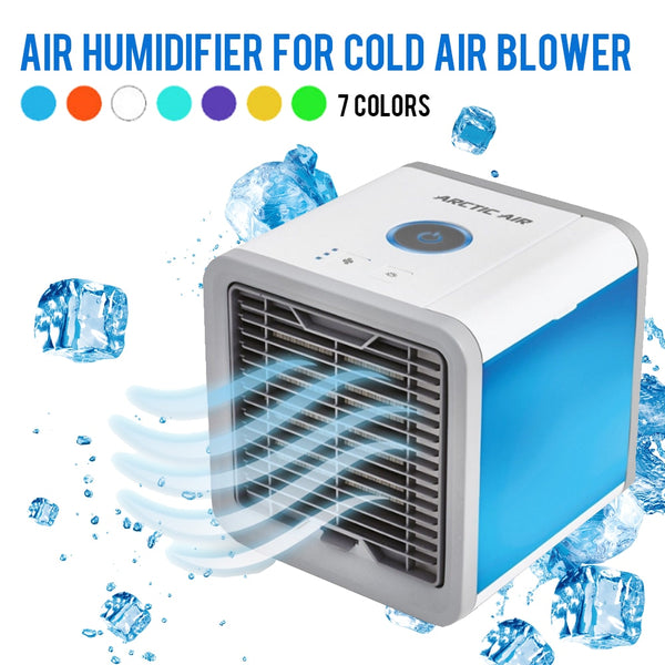 USB Mini Portable Air Conditioner Humidifier Purifier 7 Colors Light Desktop Air Cooling Fan Air Cooler Fan for Office Home-Justt Click