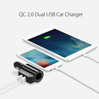 New 2.4A 1A Dual USB Car Charger Support Car Recorder Universal Mobile Phone Tablet Charger for iPhone 6 6S Samsung S6-Justt Click