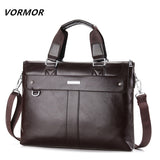 Men Casual Briefcase Business Shoulder Bag Leather Bags Computer Laptop Handbag Men's Travel-Justt Click