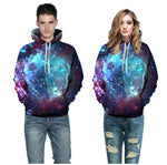 3d Printing Sweatshirts Hooded Men/Women Hoodies With Hat Galaxy Space Star Autumn Winter Loose Thin Hoody Tops Hot Sale-Justt Click