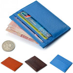 Vintage Men Women PU Leather Credit Card Holder Leather Wallet-Justt Click