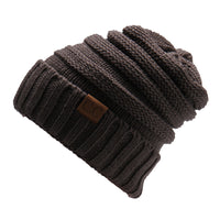 Fashion Women Casual Beanies Skullies Warm Stripes Knitted Autumn Winter Hats Caps-Justt Click