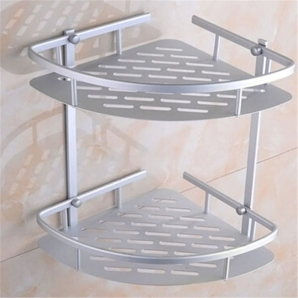 NEW Triangular Shower Caddy Shelf Bathroom Wall Corner Rack Storage Organizer Holder-Justt Click