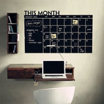 Wall Sticker Monthly Plan Calendar Chalkboard Stickers MEMO Blackboard Vinyl Study Room Wall Stickers for kids Room DIY poster-Justt Click