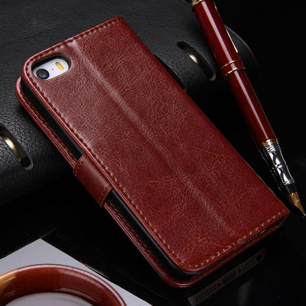 Wallet Leather Case for Apple iPhone Samsung Luxury Flip Coque Phone Bag Cover-Justt Click