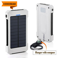 New 20000mAh Dual USB Port Solar Portable Charger with LED Light for iPhone,Cell Phone,Tablet,Camera-Justt Click