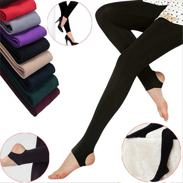 Women Beauty Autum Winter Warm Tights Knitted Women Pantyhose Stockings Velvet Solid Warm Pants Sexy Skinny Slim Pants For Women-Justt Click