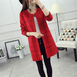 Women Casual Knitting Cardigans Spring Autumn Cardigan Slim Coat-Justt Click