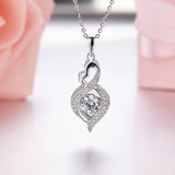 Natural Stone 100% 925 Sterling Silver Fashion Fine Jewelry with Dancing Topaz Pendants Necklaces for Women Wedding-Justt Click