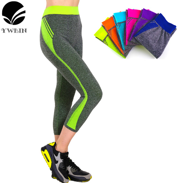 Women Capri pants Professional yoga Leggings yoga pants Gym High Waist Running sports leggings Strech Fitness pants-Justt Click