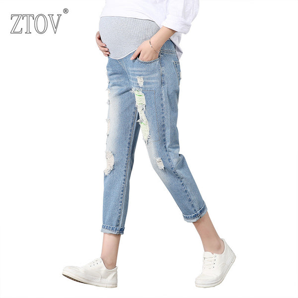 Maternity Pants For Pregnant Women Pregnancy Jeans Trousers Belly Legging Clothing-Justt Click