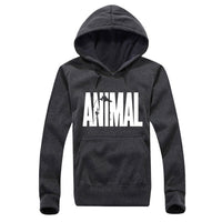 Animal Printing Men Hoodie Black Hooded Sweatshirt Male Printed Clothing Hoodies and Sweatshirts Winter The Flash animal - Justt Click