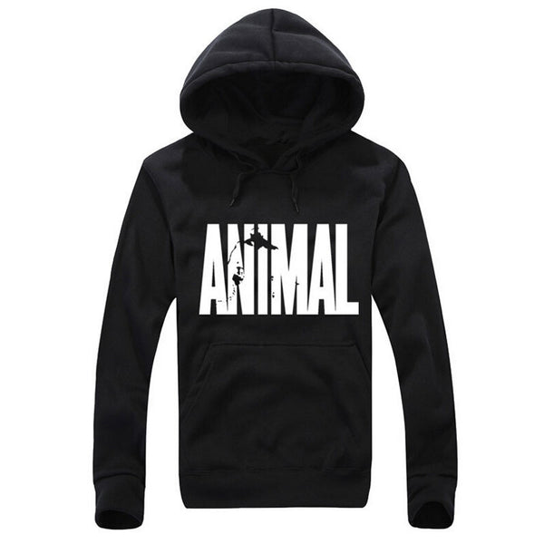 Animal Printing Men Hoodie Black Hooded Sweatshirt Male Printed Clothing Hoodies and Sweatshirts Winter The Flash animal-Justt Click