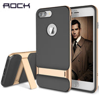 for iPhone 7 case ROCK Royce Luxury 3D Kickstand design phone Case for Apple iPhone 7/7 Plus Phone Cases PC+TPU back cover-Justt Click