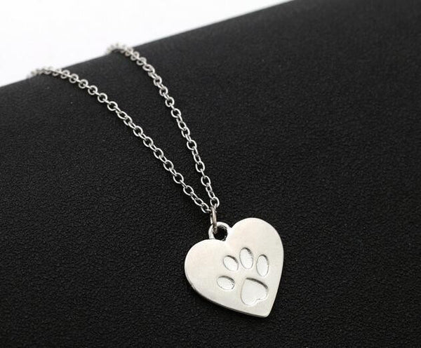 Heart Shaped Paw Necklace-Justt Click