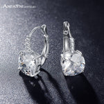 ANFASNI Hot Sell Silver Plated Hoop Earrings Clear Color AAA Zircon-Justt Click